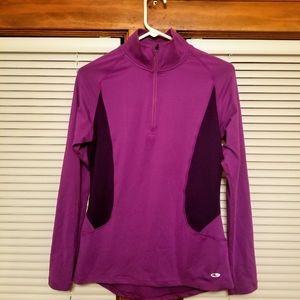 Champion Purple 1/4 Zip Pullover Mock